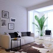 客厅绿色盆栽设计