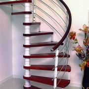 简约复式楼铁艺旋转楼梯设计