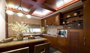 混搭风格大户型厨房装修设计效果图