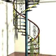 精致复式楼铁艺旋转楼梯设计