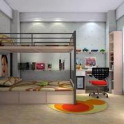 中式经典儿童房双层床设计