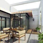 自然东南亚别墅阳台设计