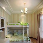 田园风格儿童房双层床设计