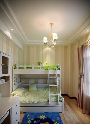 温馨时尚舒适唯美的儿童房双层床装修