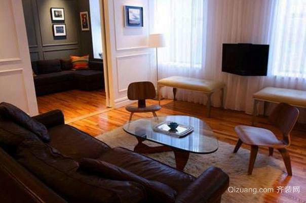 不同款型的公寓客厅装修效果图展示