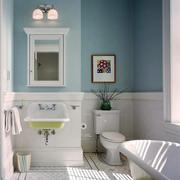 蓝白相间的卫生间