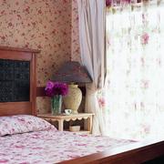 粉色田园床单