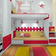 温馨宜家儿童房双层床设计