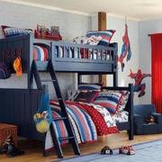 美式经典儿童房双层床设计