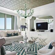 大户型客厅吊灯设计