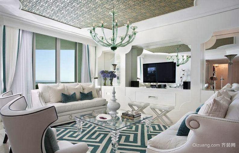 简单明了的北欧风格大户型客厅装修效果图