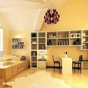 金色书房墙面