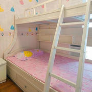 清新唯美儿童房双层床设计