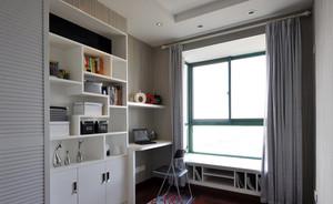 开拓视野:简欧白色小户型书房设计效果图