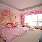 粉色调婚房布置