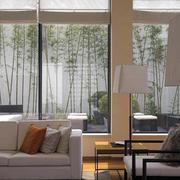 客厅窗外景观设计图