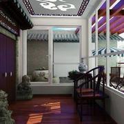 复古中式别墅阳台设计