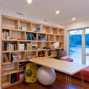 书房玻璃隔断实例图