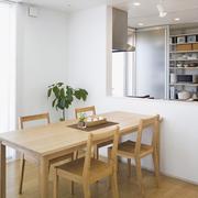 白色原木色田园风餐桌