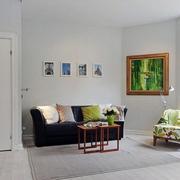 现代客厅沙发摆设