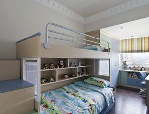 青春可爱儿童房双层床设计