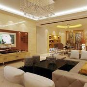 奢华公寓客厅装修设计