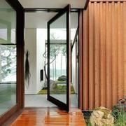 阳台玻璃隐形旋转门效果图