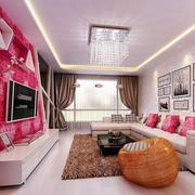 粉色调客顶厅吊设计