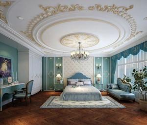 180平米别墅经典奢华法式风格卧室装修效果图