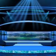 蓝紫色舞台设计