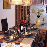餐厅桌台装饰效果图