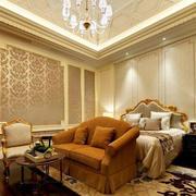 卧室奢华吊顶灯饰设计