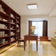 开放式书房书架设计