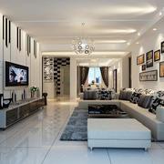 亮色整洁欧式客厅
