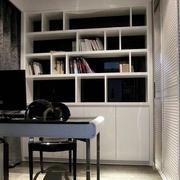 大户型时尚书房白色书架设计