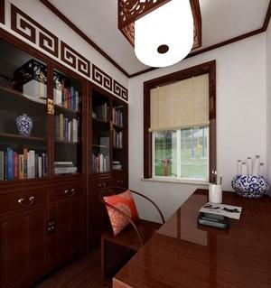 宜家风格的大户型书房装修设计效果图
