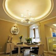 欧式圆顶餐厅吊顶装修设计