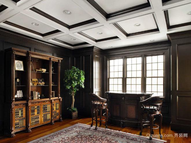 两室一厅美式风格客厅吊顶装修效果图