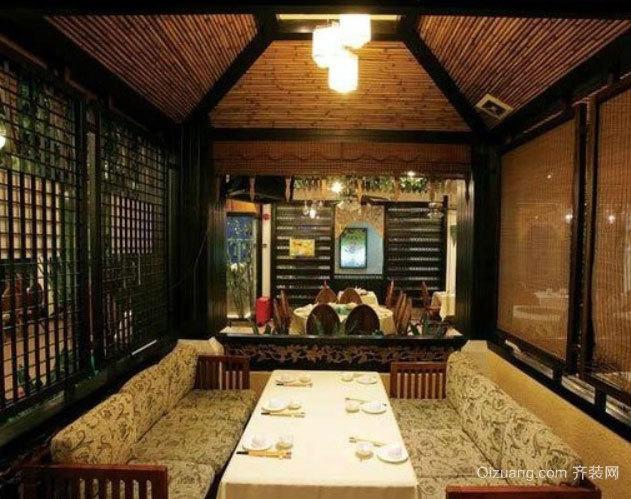 小别墅专用东南亚风格异域风情餐厅装修效果图