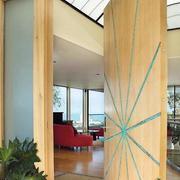 阳台隐形旋转门设计