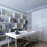 时尚白色书房效果图