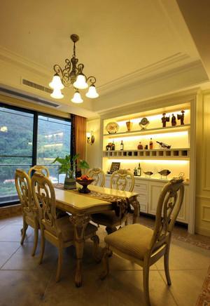 三室二厅欧式风格餐厅酒柜装修效果图
