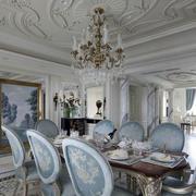 欧式经典餐厅吊顶装修设计