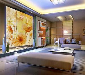 新房唯美型艺术玻璃背景墙