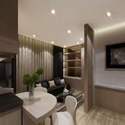 简洁明了大户型客厅