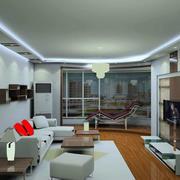 现代精装简约客厅设计