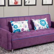 紫色淡雅沙发床