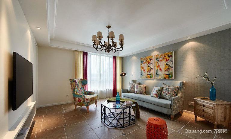 简美风格50平米小户型家装装修设计效果图