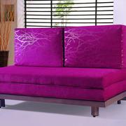 紫色大气沙发床设计