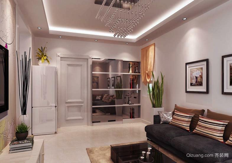 温馨恬静:50平米小户型家装设计效果图